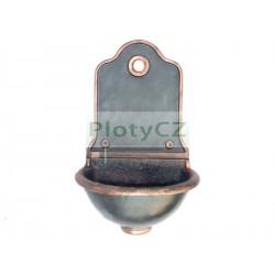 Zahradní umyvadlo 350x570, hy 485mm, cast iron, bl