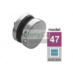 Držák kulatý, podpěra skleněné výplně AISI304, JP/T8-18/H10/M10m