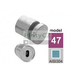 Držák na skleněné zábradlí JP/T8-18/H40/M10, AISI 304