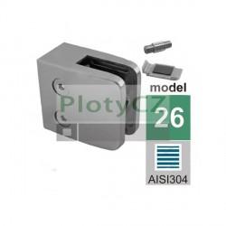 Držák skla AISI304, JP, 52x52mm, hranatý