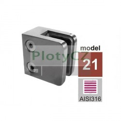 Držák skla výplně AISI316, 40x40x2/45