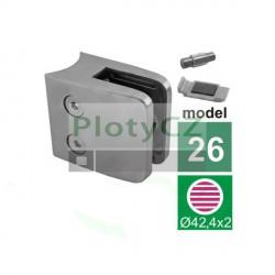 Držák skla model26, brus K320, AISI316, D42,4mm