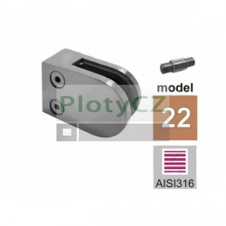 Úchyt výplně skla model22, AISI316, 40x40x2