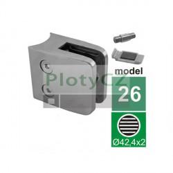 Držák výplně skla model 26 D42,4mm, materiál brus K320.