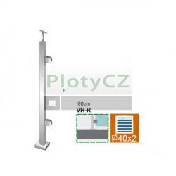 Sloupek k zábradlí - sklo, VK-rovné AISI304, 40x40/2xmodel