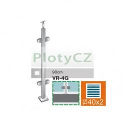 Sloupek k zábradlí - sklo, VK-rovné AISI304, 40x40/4xmodel