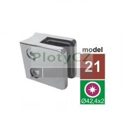 Úchyt výplně skla model 21 zábradlí, lesk AISI316