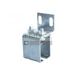 Držák kolejnice/profilu 42x54mm, ocel, pro posuvné brány