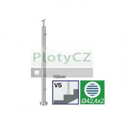 Sloupek nerezový k zábradlí D42,4/5xd12/H100cm, AISI304, A-VS100-5D12