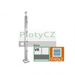 Sloupek nerezový k zábradlí D42,4xd12/H90cm, AJP-VR90-4D12