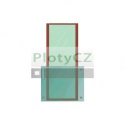 Zábradlí tabulová výplň - sada před francouzské okno140/100/12,76mm, AISI304