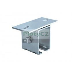 Držák kolejnice/profilu vrchní 42x54mm, ocel, pro posuvné brány