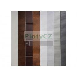 Panely pro garážová vrata bílá/hnědá v.500mm, tl. 40mm, G/PANEL-WB