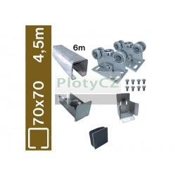Sada spodní vedení brány SV-70x70BP-Zn clasic, 70x70x4mm, samonosné brány