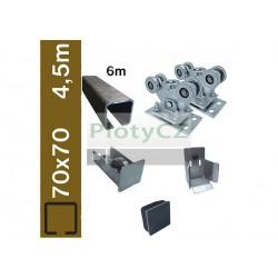Sada spodní vedení brány SV-70x70 clasic, 70x70x4mm, samonosné brány