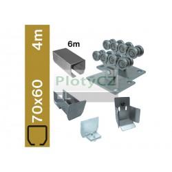 Sada spodní vedení brány SV-70x60 clasic, 70x60x3,5mm, samonosné brány