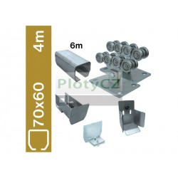 Sada spodní vedení brány SV-70x60Zn clasic, 70x60x3,5mm, samonosné brány