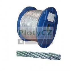 Ocelové lanko pozink 10mm / 50m