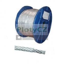 Ocelové lanko v PVC obalu 5 / 6mm / 50m