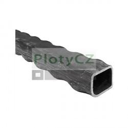 Zdobený jeklový profil čvercový 12x12x1,5 L3000mm, 0,52kg/m