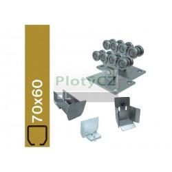 Sada spodní vedení brány SV-70x60-ECO, 70x60 bez profilu, samonosné brány