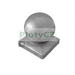 Stříška ozdobná s koulí na sloupky 80x80, D80, t1,2mm