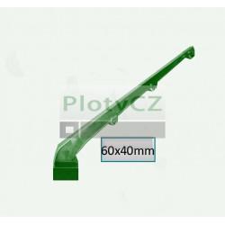 Nástavec na sloupek BAVOLET poplastovaný, zelený AL+PVC, pro sloupek 60x40mm