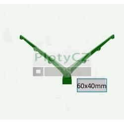 Nástavec V na hranatý sloupek BAVOLET poplastovaný, zelený AL+PVC 60x40mm