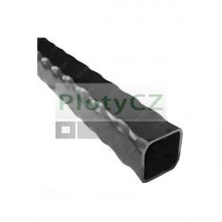 Zdobený jeklový profil čvercový 50x50x2,5 L3000mm, 4,00 kg/m