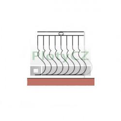 Zábradlí kované, vertikální - sada, vzor a02/b20/c51/d70 - 100cm
