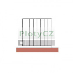 Zábradlí kované vertikální - sada, vzor e22/f01/g01/h01 - 100cm