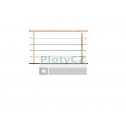Zábradlí dřevěné BUK sada, kotvení seshora L1500, VR90