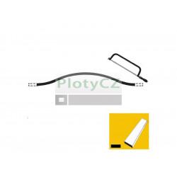 Lomený oblouk, plotový rám 30x5, p200,