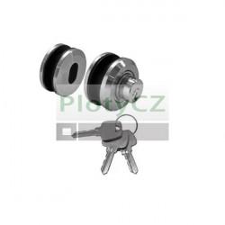 Kruhový nerez zámek pro skleněné dveře AISI304, K320, D45mm