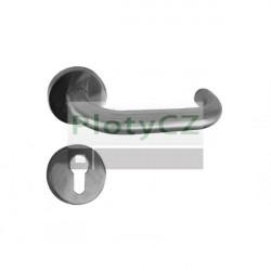 Klika se štítkem AISI 304, K320, L130mm na cylindrickou vložku