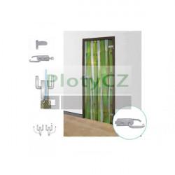 Set nerezové kování pro skleněné dveře křídlové, AISI 304, K320, glass