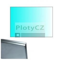 Výplň skleněná, čiré sklo 120x85cm, HR8,76mm, leštěné hrany