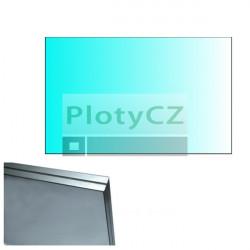 Výplň skleněná, čiré sklo 120x75cm, HR8,76mm, leštěné hrany