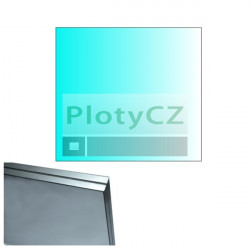 Výplň skleněná, čiré sklo 120x110cm, HR16,76mm, leštěné hrany