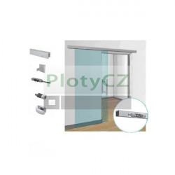 Posuvné skleněné dveře v liště, AL, 90kg/L2000mm, glass