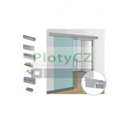 Posuvné skleněné dveře v liště, AL, T-8mm/50kg/L3000