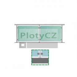 Zábradlí tabulová výplň - sada, H1000/L2786mm, AISI304