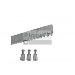 Ozubený nerezový hřeben max. 1900kg, 30x8mm, L1m, 3x úchyt + šrouby