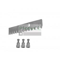 Ozubený ocelový hřeben max. 1700kg, 30x10mm, L1m, 3x úchyt + šrouby