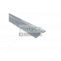 """Vodící kolejnice ,,V"""" Zn, t3mm, délka 6m, H/39V-6000"""