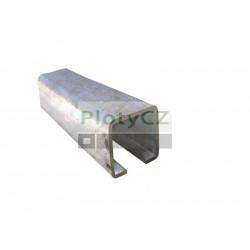 Vodící profil spodního vedení 60x60x4mm, L6(3)m, H/02-60x60-Zn, posuvné samonosné brány