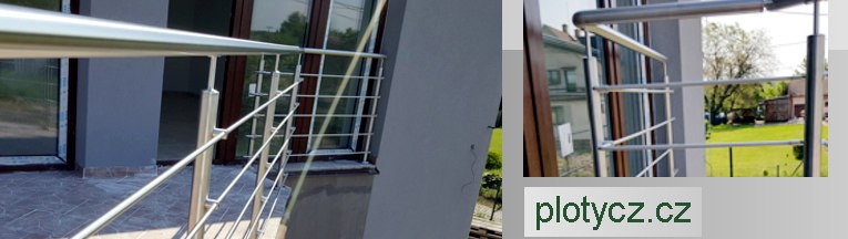 Nerezové zábradlí na terasy výroba a montáž