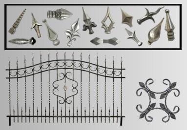 Prvky na kované ploty